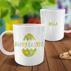 Spotty Egg White Plastic Mug