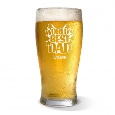 World's Best Dad Standard Beer Glass