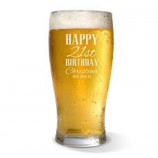 Classic Happy Birthday Standard Beer Glass