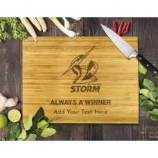 NRL Storm Bamboo Cutting Board