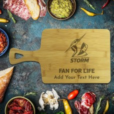 NRL Storm Rectangle Bamboo Serving Board