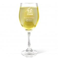 NRL Storm Engraved Wine Glass