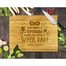 Super Dad Bamboo Cutting Board