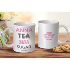 Tea Milk Sugar Mug