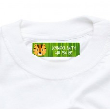 Tiger Iron On Clothing Label