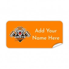 NRL Wests Tigers Rectangle Name Label