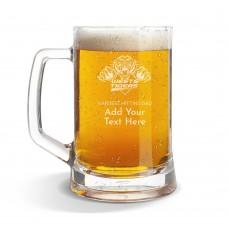 NRL Wests Tigers Glass Beer Mug