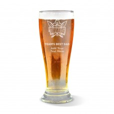 NRL Titans Father's Day Premium Beer Glass