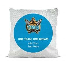 NRL Titans Magic Sequin Cushion Cover