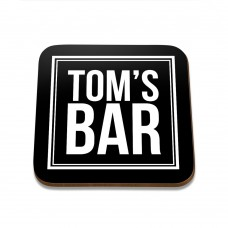 Tom's Bar Square Coaster