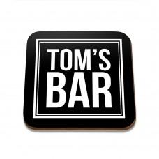 Tom's Bar Square Coaster