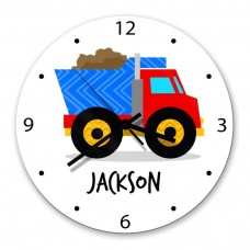 Truck Glass Wall Clock