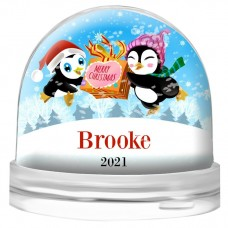 Two Penguins Snow Globe