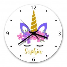 Unicorn Glass Wall Clock