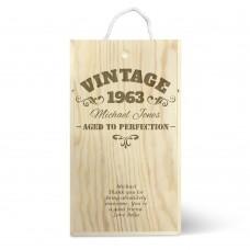 Vintage Double Wine Box