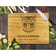 NRL Warriors Bamboo Cutting Board