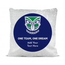 NRL Warriors Magic Sequin Cushion Cover