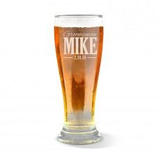 Wedding Engraved Premium Beer Glass