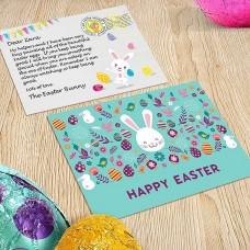 White Bunny Postcard