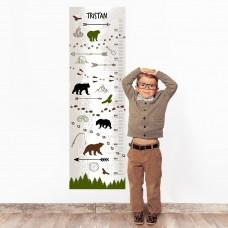 Wilderness Wall Decal Height Chart