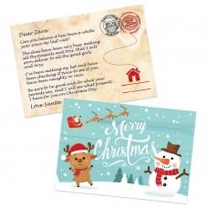 Winter Santa Postcard