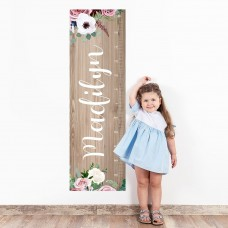 Woodland Wall Decal Height Chart
