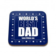 World's Best Dad Square Coaster