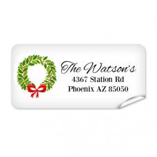 Wreath Return Address Label