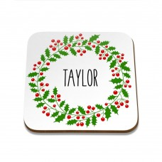 Wreath Square Coaster