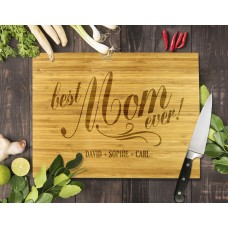 Best Mum Ever Bamboo Cutting Board