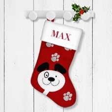 Dog Santa Stocking