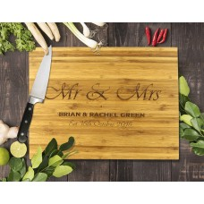 Mr & Mrs Bamboo Cutting Board