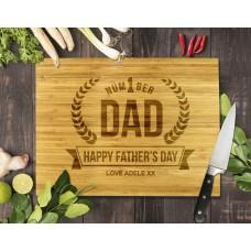 Number 1 Dad Bamboo Cutting Board