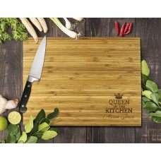 Queen Of The Kitchen Bamboo Cutting Board