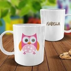 Owl White Plastic Mug