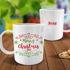Merry Christmas White Plastic Mug