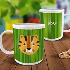Tiger White Plastic Mug