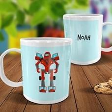 Robot White Plastic Mug