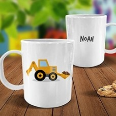 Little Digger White Plastic Mug