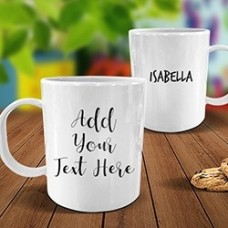 Add Your Own Message White Plastic Mug