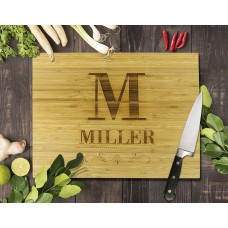 Surname Bamboo Cutting Board