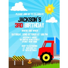Truck Party Invitation